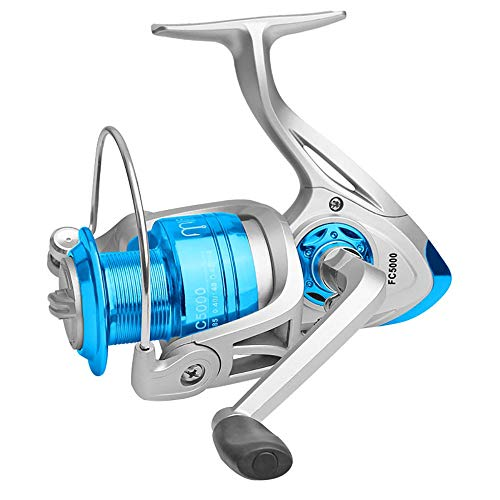 Metal Spinning Fishing Reel,Ultra-Light ABS Wire Cup Zinc Alloy Main Gear Number of Axes 10 Speed Ratio 5.2:1Goture Spinning Fishing Reel Metal Spool for Freshwater Saltwater ()