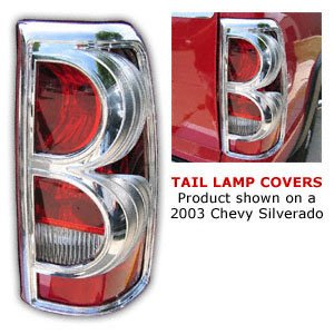 Tail Light Flareside Chrome Cover (Putco 401807 Tail Light Covers)