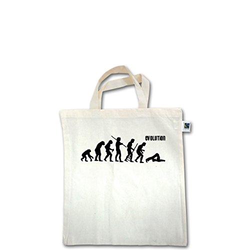 Evolution - Pilates Evolution - Unisize - Natural - XT500 - Fairtrade Henkeltasche / Jutebeutel mit kurzen Henkeln aus Bio-Baumwolle