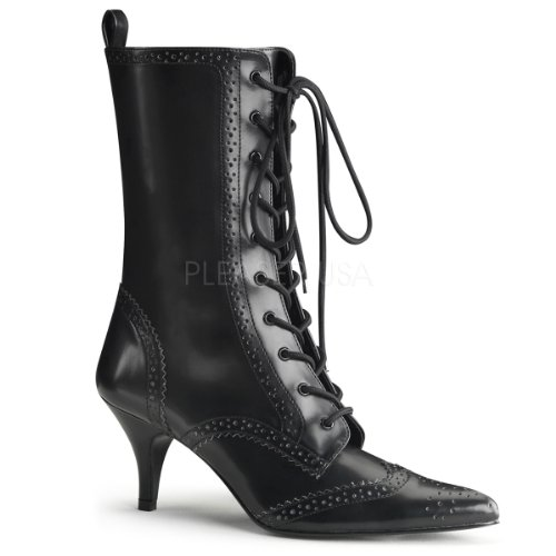 Demonia by Pleaser High Heels Dandylook Stiefelette FURY-100 Kunstleder Schwarz, Größe F:7 US / 37
