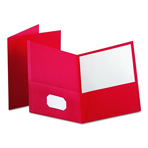 Oxford Twin Pocket Folders, Letter Size, Red, 25 per Box - Stores Mall Oxford