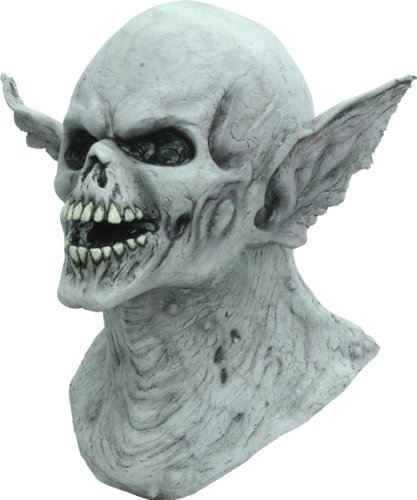 Latex Mask: Banshee - Product Description - Skull-Look Demon With Vampire Style Ears. Full Over-The-Head Mask. Individually Hand Painted J(With Hair) For The Most Realistic Look Possible. One Size Fits Most Adults. ...]()