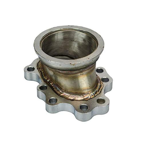 - PQYRACING Turbocharger Adaptor Flange T25 T28 GT25 GT28 5 Bolt to 2.5