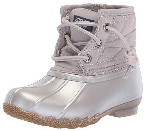Sperry Girls' Saltwater Boot Sneaker, Gull Grey, 13 Medium US Little Kid