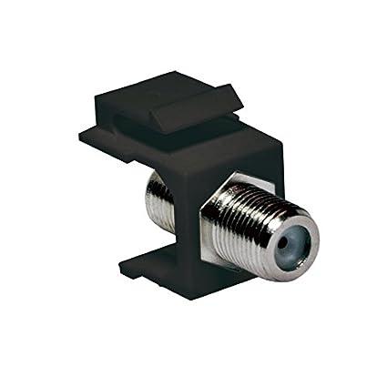 connecteur Antenne SAT Connecteur pour montage dans panneaux Keystone ou boitiers de raccordement Lot de 2 Noir 75 Ohm Faconet/® Keystone Connecteur F Femelle  connecteur F Femelle