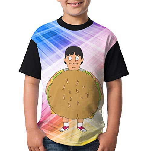 Bobs Burgers Gene Stand Up American Sitcom Youth Raglan Short Sleeve Tee Casual Crew Neck T-Shirt -