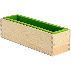 Nicole D0019 Rectangular Silicone Loaf Soap Mold Wood Box DIY Homemade Tools by nicole