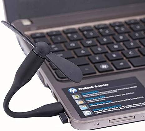 PEISHI Ventilador Flexible Mini portátil USB con alimentación USB de 2 aspas del Ventilador (Negro) en 2020 Black