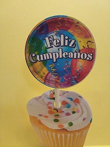 Amazon.com: FELIZ CUMPLEANOS SET of 24 Handmade: Handmade