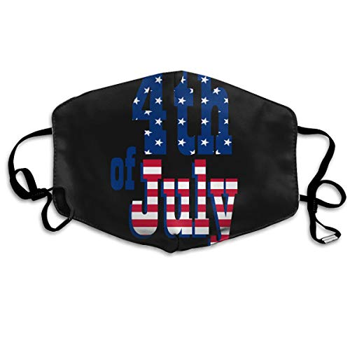 SDQQ6 Happy Fourth of July Text Mouth Mask Unisex Printed Fashion Face Mask Anti-dust Masks]()