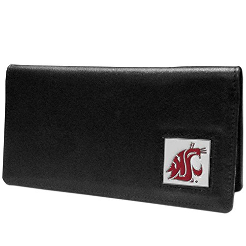 Siskiyou NCAA Washington State Cougars Leather Checkbook Cover