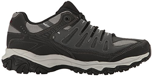 Skechers Sport Heren Afterburn Memory-foam Lace-up Sneaker Charcoal / Zwart