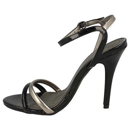 Ladies Anne Michelle Heeled Sandals Black zPGvOZ6tM