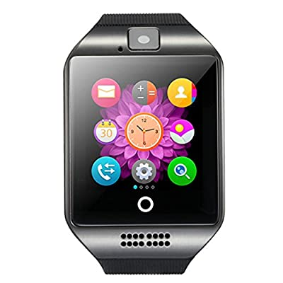Kxcd Q18 Bluetooth Smartwatch orologio da polso supporto NFC fotocamera TF Card Smart Watch per Android Phone iOS iPhone Huawei Samsung