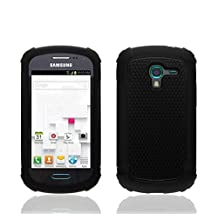 Impact Dual Layer Shock Proof Case For Samsung Galaxy Ace 2 II-E T599 - Solid Black