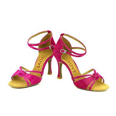 Morado Salsa Negro Amarillo baile Blanco Azul Personalizado Tacón Latino Rosa Personalizables bronze Rojo de Zapatos IvSxwYI