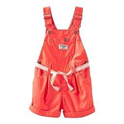 OshKosh B\'gosh Shortall (Baby) - Orange-9 Months