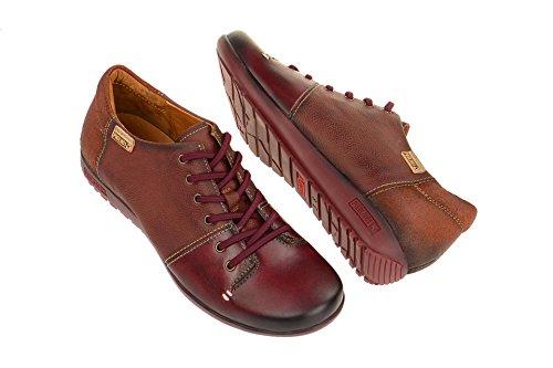Rojo de W67 Zapatos cordones mujer Garnet de 4622 Arcilla para Pikolinos Piel pnPqw7Xw