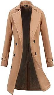 zeger Lende Men Trench Coat Winter Long Jacket Double Breasted Overcoat