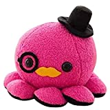 10cm Cute Octopus Plush Toy Soft Stuffed Animal Doll Xmas Christmas Birthday Valentine Gift (Hot Pink) by AngelGift