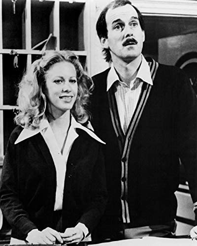 Erthstore 8x10 inch Photograph of Connie Booth as Polly Sherman and John Cleese as Basil Fawlty in Fawlty Towers Side by Side