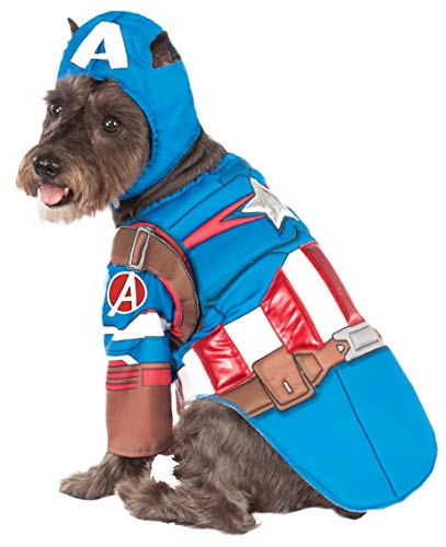 Captain America Pet Costume (Rubie's Avengers Assemble Deluxe Captain America Pet Costume,)