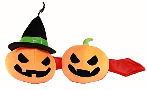 Holiday Decorations Halloween Smashing Pumpkin Plush Toys: Witch and Hat