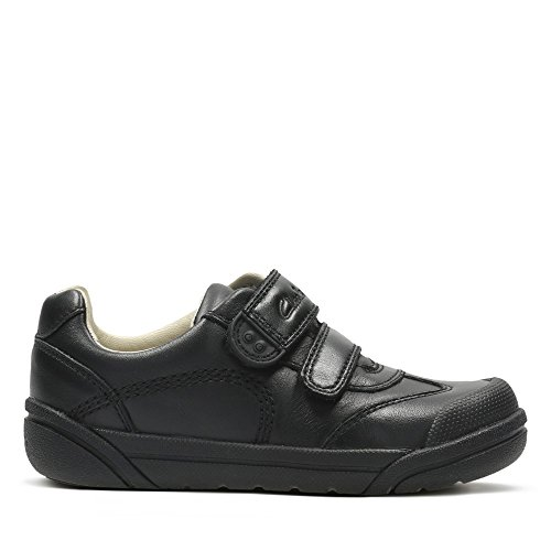 Clarks Lilfolk Zoo Inf Boys School Shoes 10.5 Black Leather