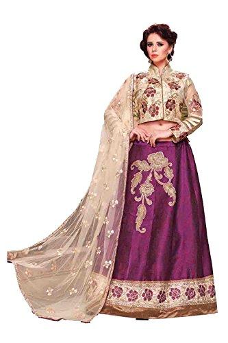 IWS Womens Fancy Fabric Fuchsia Pretty Circular Lehenga Style 79618
