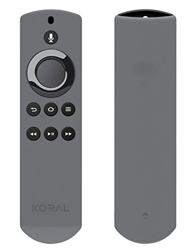 Koral Case for Alexa Voice Remote for Fire TV and Fire TV Stick - Grey