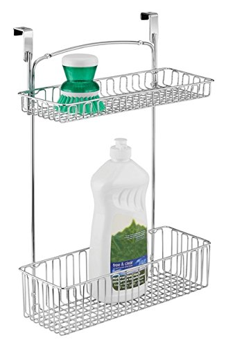 MDesign Over Cabinet Kitchen Hanging Storage Organizer Holder Or Basket    Hang Inside Or Outside Of