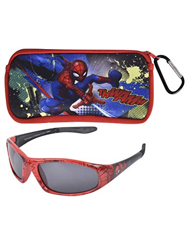 KIDS SUNGLASSES - BOYS 100% UV WITH SOFT POUCH, SPIDERMAN, PAW PATROL, AVENGERS ()