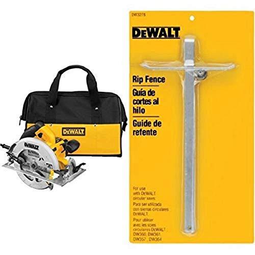 DEWALT DWE575SB 7-1/4-Inch Lightweight Circular Saw with Electric Brake with Circular Saw Rip Fence