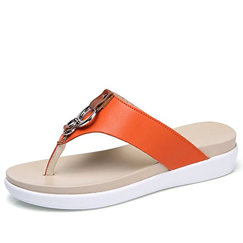 Pinza Para Zapatos Naranja 106 Color Playa 44 Zapatillas Xxm Y Con Plano 68 Xxm Gruesa A De M shoes Calzado Piel 91 Antideslizantes AIxw7PqS