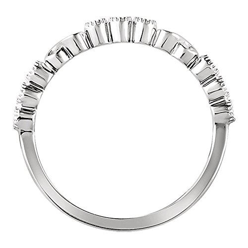 0.36 ct Ladies Round Cut Diamond Anniversary Band in 14 kt White Gold