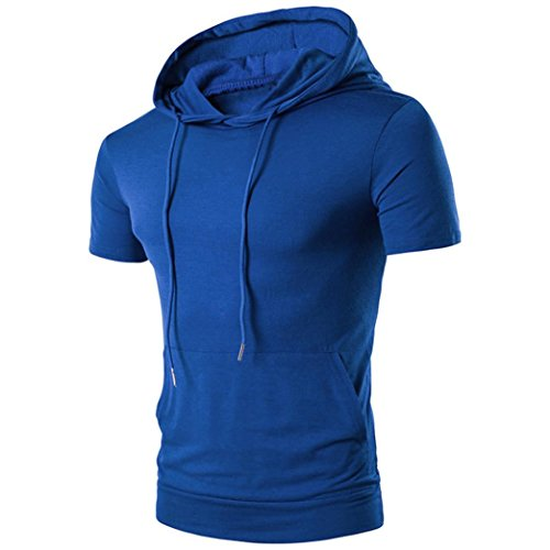 Clearance! Hot Sale! Men Short T-shirt, Among Summer Casual Hedging Tops Fashion Hooded Short-sleeved Blouse Pocket Tops (L, - Armani Clearance