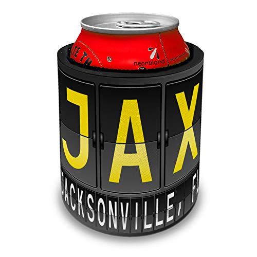 - NEONBLOND JAX Airport Code for Jacksonville, FL Slap Can Cooler Insulator Sleeve