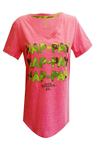 Duck Dynasty Hap-pay Pink Happy Night Shirt for women (Large)