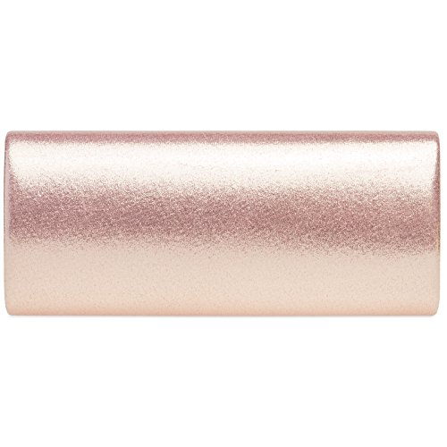 Ladies Elegant Envelope Clutch Satin Pink Decor Metal with CASPAR TA417 Evening Bag 5qXwHf