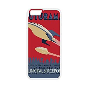 Retro Futurama Poster Vector iPhone 6 Plus 5.5 Inch Cell Phone Case White TPU Phone Case SV_206969