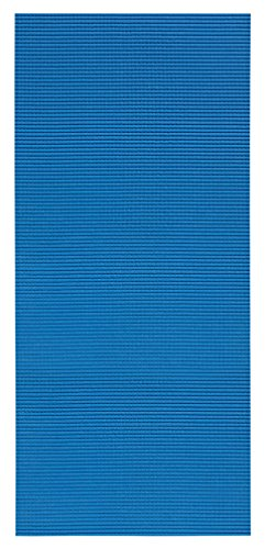 2-Feet X 10-Feet Foam Rubber Runner Rug | Blue Solid Design Modern Floor Runner 2X10