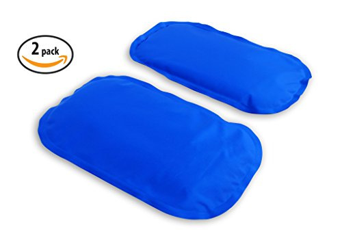 Gel Ice Pack Cold Compress – 2-Pack LARGE – Reusable comfortable soft touch vinyl provides instant pain relief, rehabilitation and therapy for injuries
