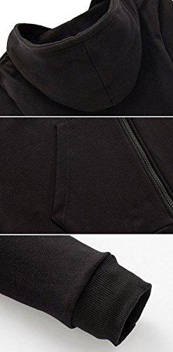 Kigcos Alan Walker Logo Unisex Zip Hoodies Cosplay Costome (Medium, Black)