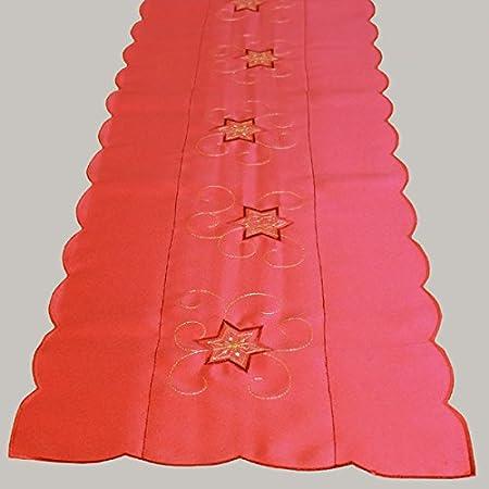 avec des /étoiles enchant/ées brod/ées No/ël Hiver Couleur de Base : Rouge//Or avec Une Belle Broderie KAMACA S/érie magieuse