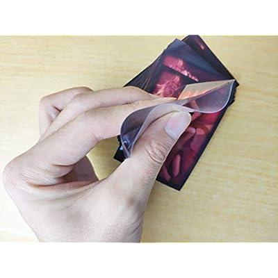 bakedbanana - 60 PCS/Set Black Lotus Matt Scrub Colorful Backs MTG Card Sleeves Protective of TCG, Board Game Card Sets for Magic The Gathering Yugioh Pokemon: Toys & Games