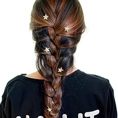 Yean Bridal Hair Clips Vingate Star Hair Pins 5 Packs - Wedding Headpieces for Women and Girls (Gold)