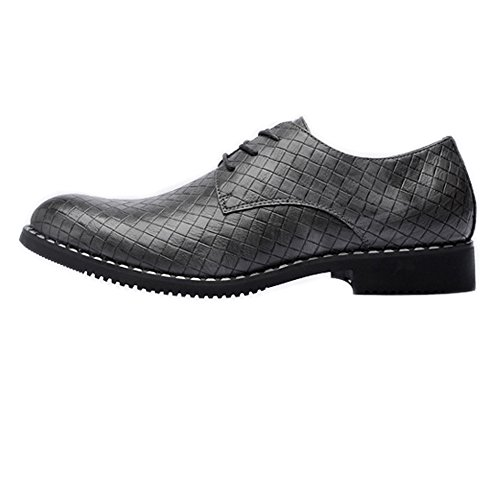 da Oxford Estate PU Primavera Size Scarpe pelle superiore Business Color 2018 quadrata in uomo Gray Pizzo traspirante EU shoes Fang Black Texture 38 zqZXt