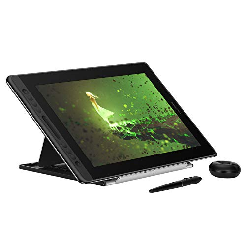 Huion KAMVAS Pro 16 Graphics Drawing Monitor Tilt Function Battery-Free Stylus 8192 Pen Pressure with Adjustable Stand- 15.6 Inches