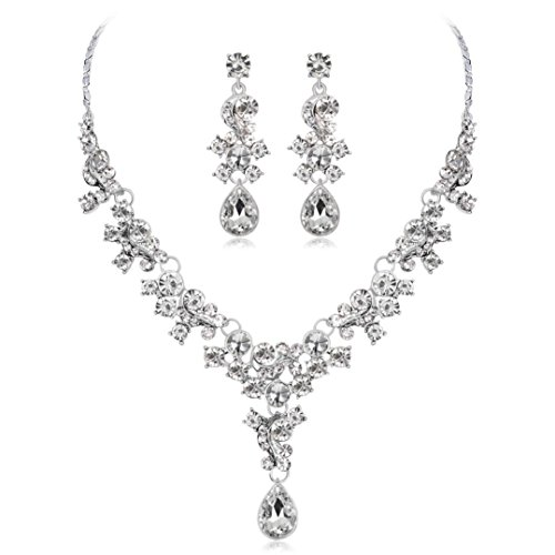 - Clearance Deals Necklace+Earrings Jewelry Set Womens Mixed Style Bohemia Color Bib Chain Necklace Earrings Wedding Jewelry by ZYooh (Silver)