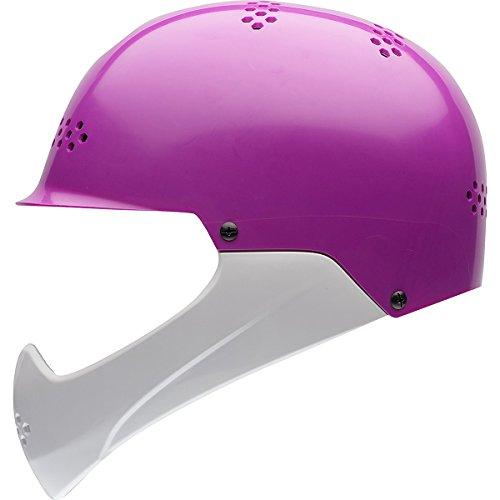 White Face Helmet Bell Sports (Bell Shield Child Helmet, Purple/White)